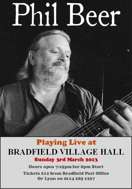 Book tickets for Phil Beer live at the Hall on Sunday 3rd March.